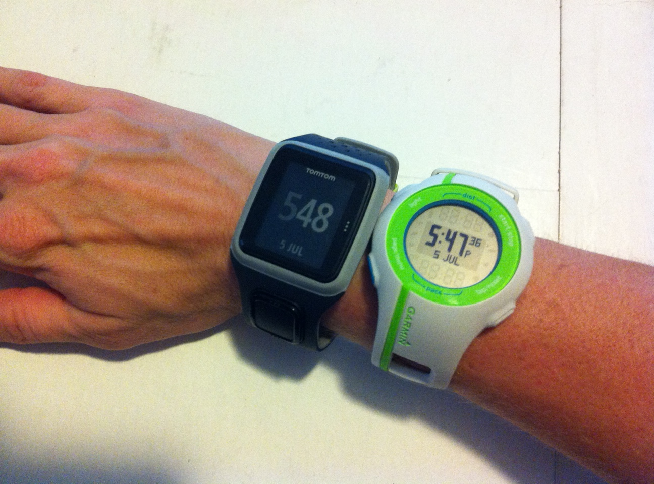 """My Two Week """"Trial"""" of the Garmin Forerunner 210 and Tomtom Runner"""